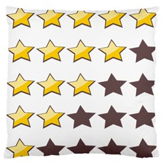 Star Rating Copy Large Cushion Case (One Side)