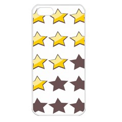 Star Rating Copy Apple iPhone 5 Seamless Case (White)
