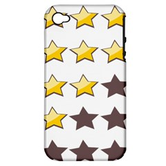 Star Rating Copy Apple iPhone 4/4S Hardshell Case (PC+Silicone)