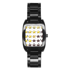 Star Rating Copy Stainless Steel Barrel Watch