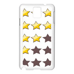 Star Rating Copy Samsung Galaxy Note 3 N9005 Case (White)