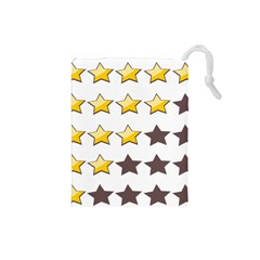 Star Rating Copy Drawstring Pouches (Small)
