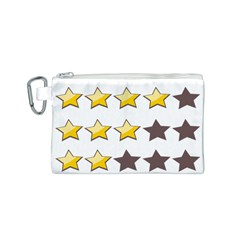 Star Rating Copy Canvas Cosmetic Bag (S)