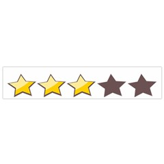 Star Rating Copy Flano Scarf (Small)
