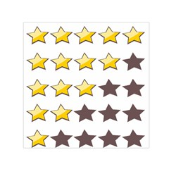 Star Rating Copy Small Satin Scarf (Square)