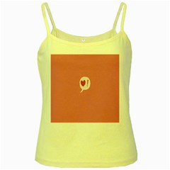 Valentines Pink Day Copy Yellow Spaghetti Tank