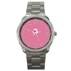 Valentines Pink Day Copy Sport Metal Watch
