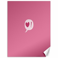 Valentines Pink Day Copy Canvas 12  x 16