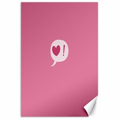 Valentines Pink Day Copy Canvas 24  x 36