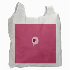 Valentines Pink Day Copy Recycle Bag (One Side)
