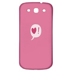 Valentines Pink Day Copy Samsung Galaxy S3 S III Classic Hardshell Back Case