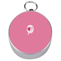 Valentines Pink Day Copy Silver Compasses