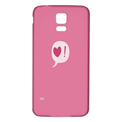 Valentines Pink Day Copy Samsung Galaxy S5 Back Case (White)
