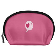 Valentines Pink Day Copy Accessory Pouches (Large)