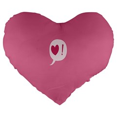 Valentines Pink Day Copy Large 19  Premium Flano Heart Shape Cushions