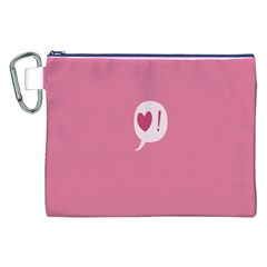 Valentines Pink Day Copy Canvas Cosmetic Bag (XXL)