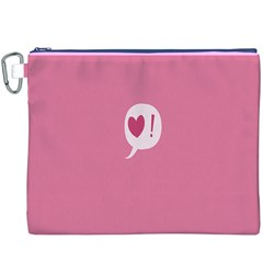Valentines Pink Day Copy Canvas Cosmetic Bag (XXXL)