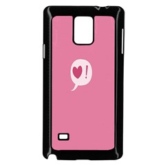 Valentines Pink Day Copy Samsung Galaxy Note 4 Case (Black)