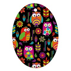 Ultra Soft Owl Ornament (Oval)