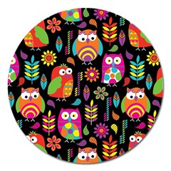 Ultra Soft Owl Magnet 5  (Round)