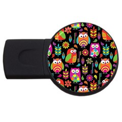 Ultra Soft Owl USB Flash Drive Round (4 GB)
