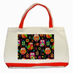 Ultra Soft Owl Classic Tote Bag (Red)