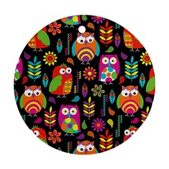 Ultra Soft Owl Round Ornament (Two Sides)