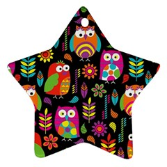 Ultra Soft Owl Star Ornament (Two Sides)
