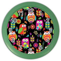 Ultra Soft Owl Color Wall Clocks