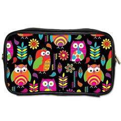 Ultra Soft Owl Toiletries Bags 2-Side
