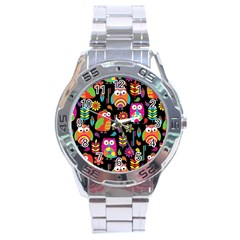 Ultra Soft Owl Stainless Steel Analogue Watch