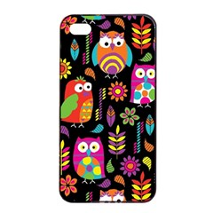 Ultra Soft Owl Apple iPhone 4/4s Seamless Case (Black)