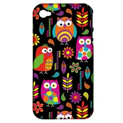 Ultra Soft Owl Apple iPhone 4/4S Hardshell Case (PC+Silicone)