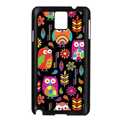 Ultra Soft Owl Samsung Galaxy Note 3 N9005 Case (Black)