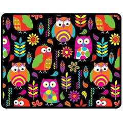 Ultra Soft Owl Double Sided Fleece Blanket (Medium)
