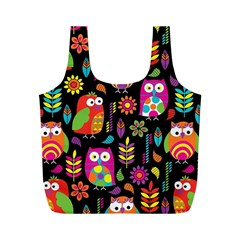 Ultra Soft Owl Full Print Recycle Bags (M)