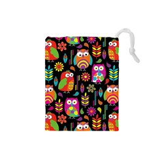 Ultra Soft Owl Drawstring Pouches (Small)