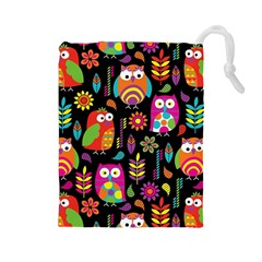 Ultra Soft Owl Drawstring Pouches (Large)