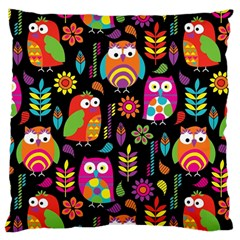 Ultra Soft Owl Large Flano Cushion Case (Two Sides)