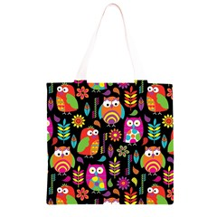 Ultra Soft Owl Grocery Light Tote Bag