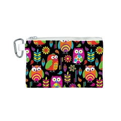 Ultra Soft Owl Canvas Cosmetic Bag (S)