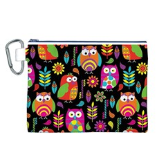Ultra Soft Owl Canvas Cosmetic Bag (L)