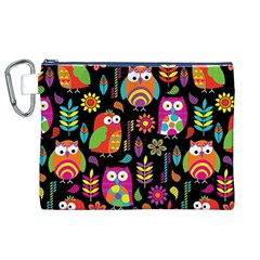 Ultra Soft Owl Canvas Cosmetic Bag (XL)