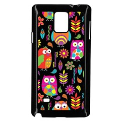 Ultra Soft Owl Samsung Galaxy Note 4 Case (Black)
