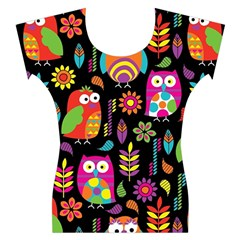 Ultra Soft Owl Women s Cap Sleeve Top