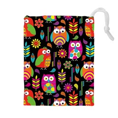 Ultra Soft Owl Drawstring Pouches (Extra Large)