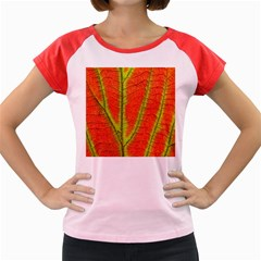 Unique Leaf Women s Cap Sleeve T-Shirt