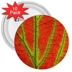 Unique Leaf 3  Buttons (10 pack)