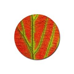 Unique Leaf Rubber Coaster (Round)