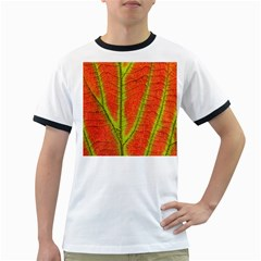 Unique Leaf Ringer T-Shirts